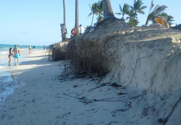 Frentes fríos han influido en erosión de playas del este de la República Dominicana