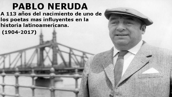 Las mejores frases de Pablo Neruda.