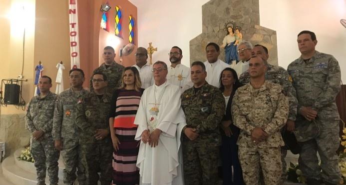 Altos mandos militares participan de misa aniversario del Cesfront en Dajabón