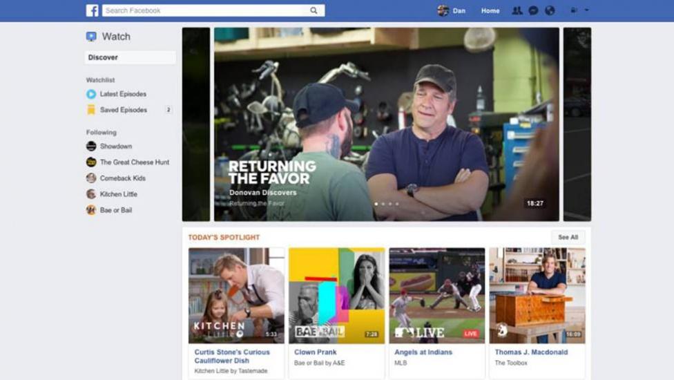 Facebook va a por YouTube con Watch, un nuevo espacio para subir tus vídeos