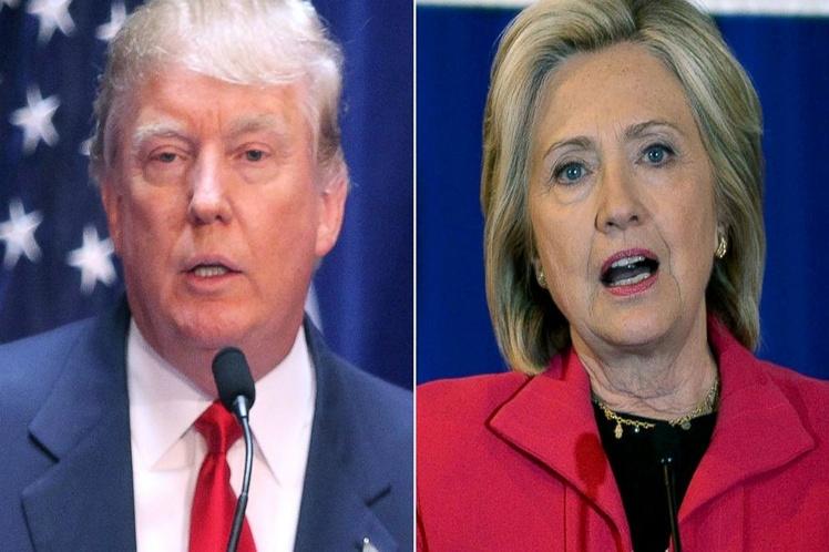 EE.UU. está en peligro bajo el mandato de Trump, dice Hillary Clinton