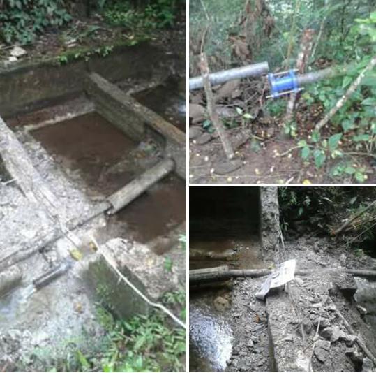 Polo: Rompen represa que suministra agua potable a cientos de familias moradores de Puentecito