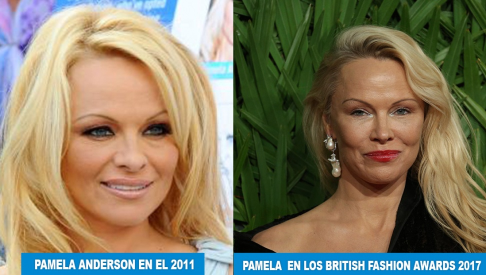 Pamela Anderson luce irreconocible