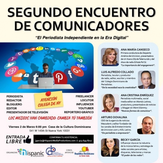 Realizarán segundo encuentro de comunicadores en Nueva York