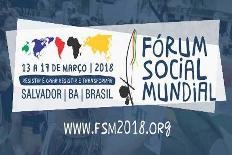 Brasil, por séptima ocasión sede del Foro Social Mundial los días 13 al 17