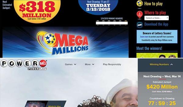 Powerball y Mega Millions acumulan la suma de $738 millones