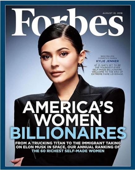 Kylie Jenner entra a Forbes con $900 millones de dólares y su fortuna es superior a la de Jennifer López