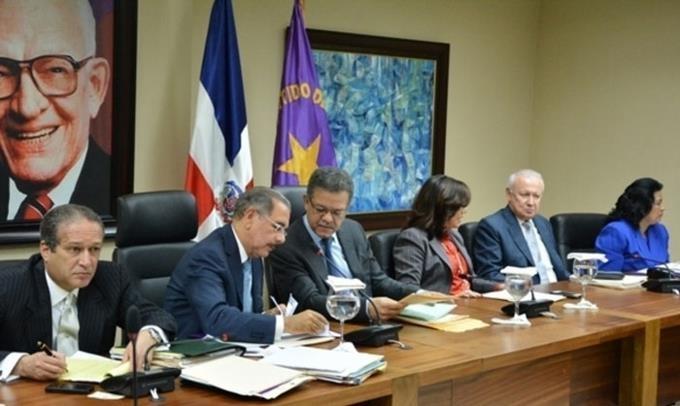 Image result for Reunión reciente del comite politico del PLD