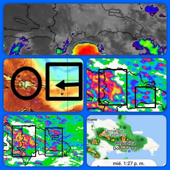 Seguirán lluvias en Dominicana y abundante nubosidad