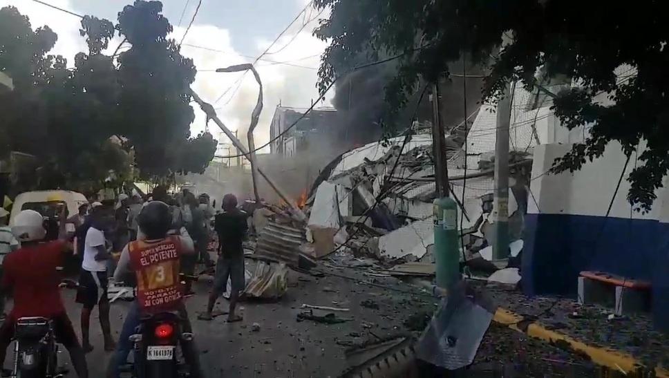 Se eleva el numero de muertos por la explosión en Polyplas Dominicana