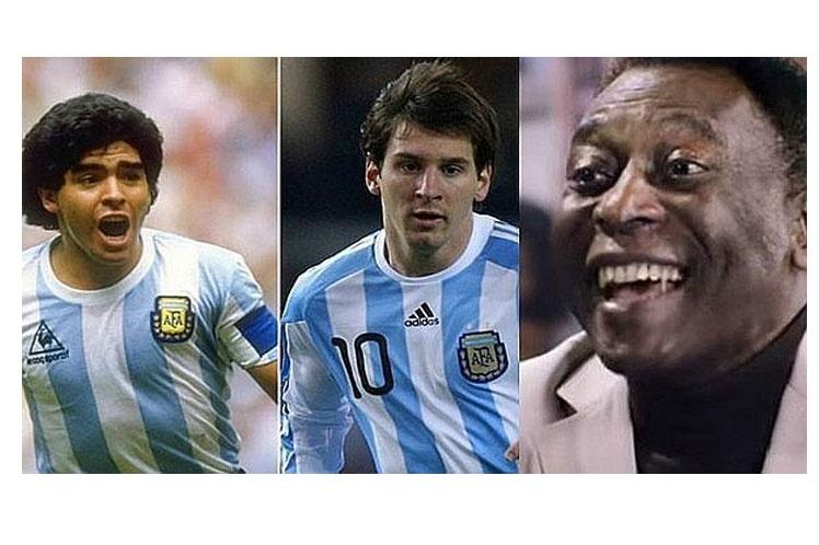 Para el gran Pelé, Maradona mejor que Messi