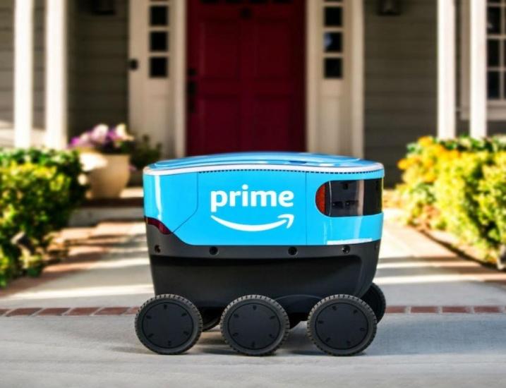 Amazon prueba pequeños vehículos autónomos para entregar paquetes