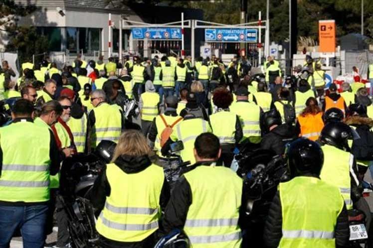 Chalecos amarillos a un nuevo sábado de movilización en Francia