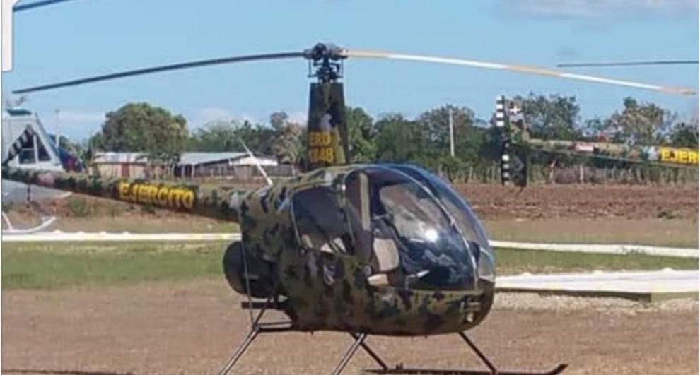 Helicóptero del Ejército cae en finca de Dajabón