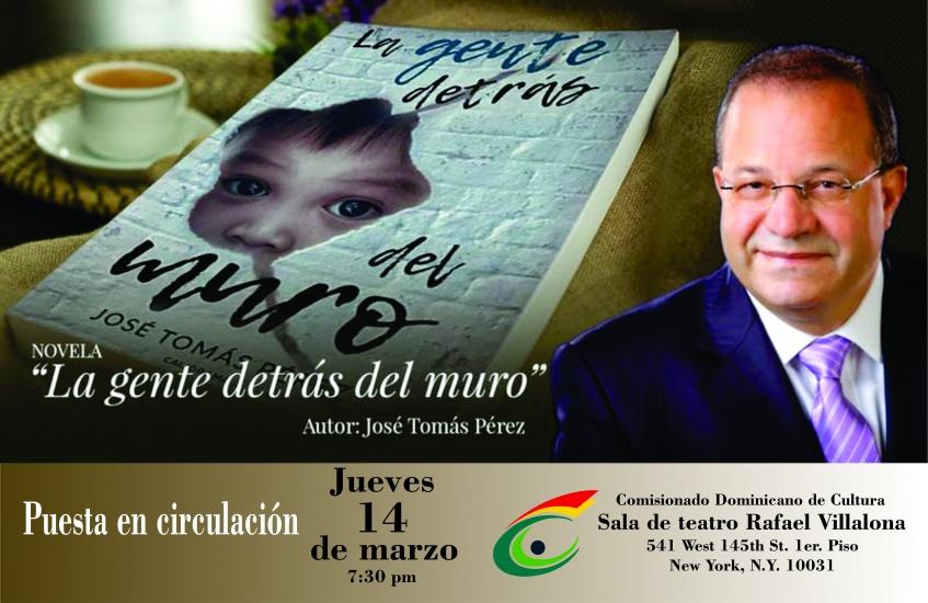 Pondrán en circulación novela del embajador José Tomás Pérez en el Comisionado Dominicano de Cultura