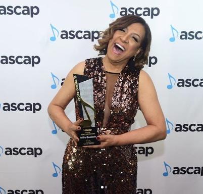 Milly Quezada recibe premio ASCAPmientras prepara su álbum #34