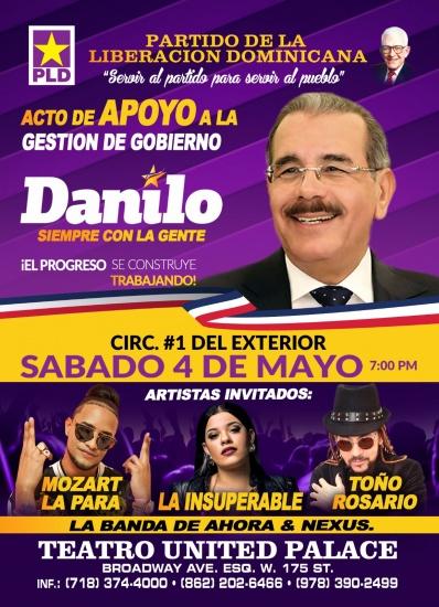 Toño Rosario, Mozart La Para y La Insuperable encabezarán elenco en acto apoyogestióndeDanilo Medina