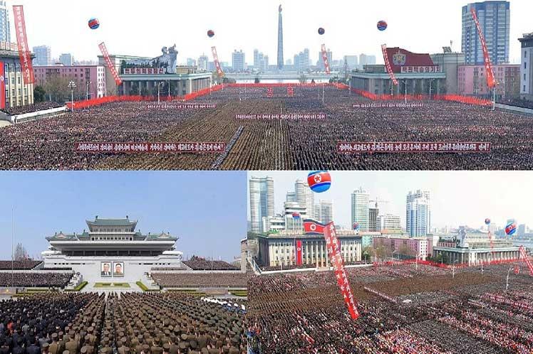 Masivo apoyo en Corea Democrática a reelección de Kim Jong Un