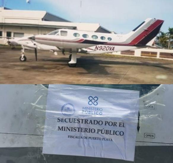 Fiscalía de Puerto Plata establece medidas de custodia a avioneta que sería sacada ilegal del país,
