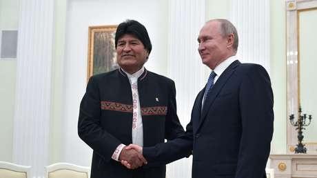 Vladímir Putin tras el encuentro con Evo Morales: