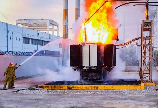 Se incendia transformador de Subestación El Matadero y provoca avería en el sector Independencia