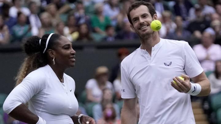 Serena y Murray, eliminados del dobles mixto de Wimbledon