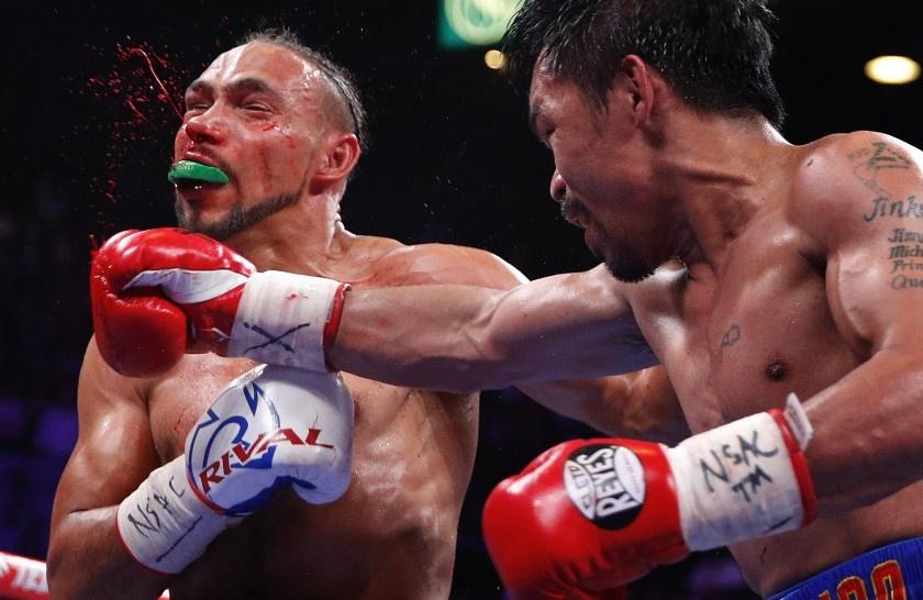 Pacquiao, a sus 40 años, dio una exhibición de buen boxeo; venció a KeithThurman