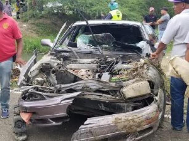 Al menos 9 personas ahogadas al caer vehículo en un canal de riego en Santiago
