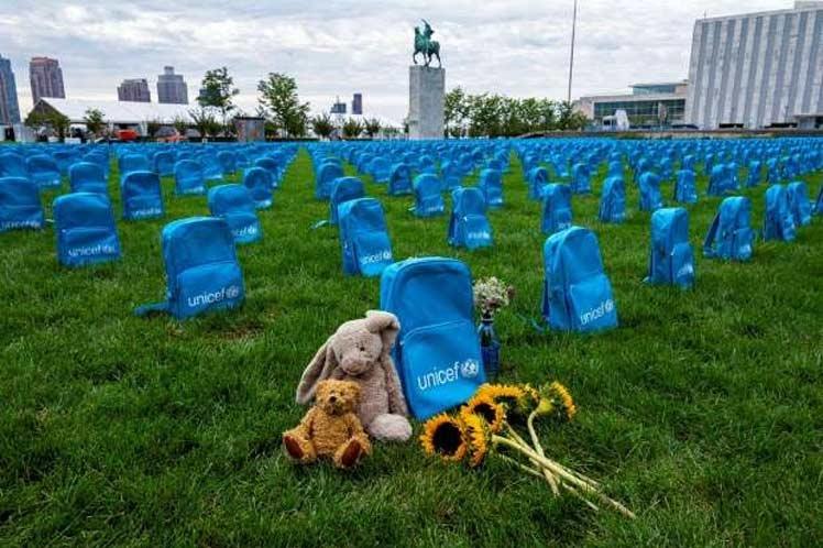 Instalación en ONU recuerda alarmantes muertes de niños en conflictos