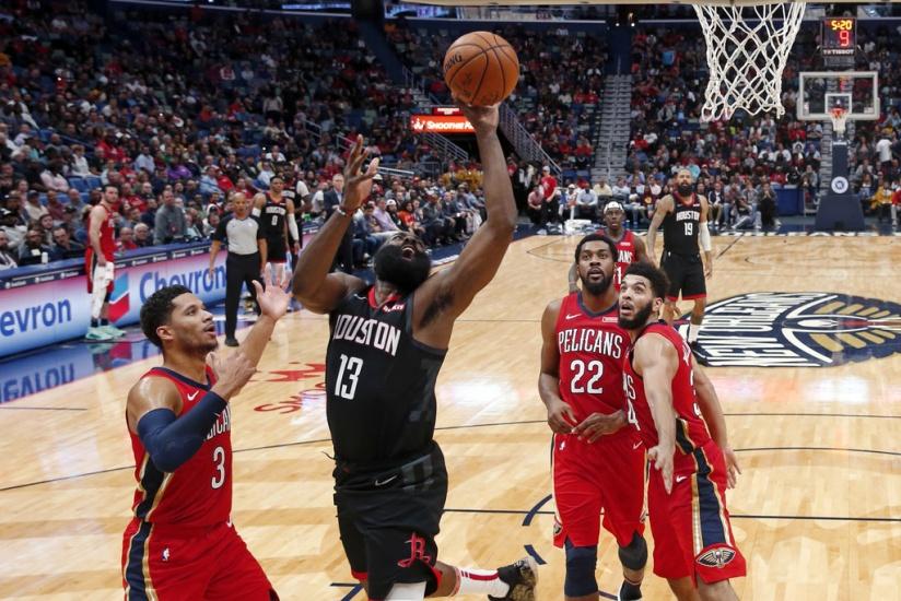Rockets se imponen a Pelicans; Con 39 puntos de Harden