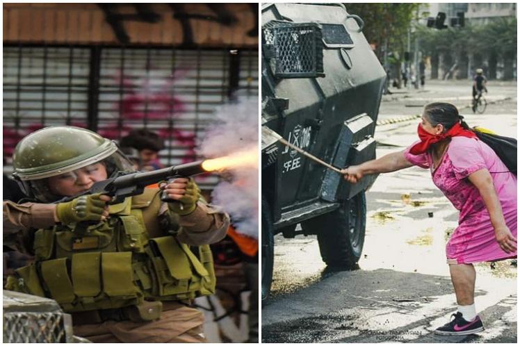 Serios incidentes cerraron Súper Lunes de protestas en Chile