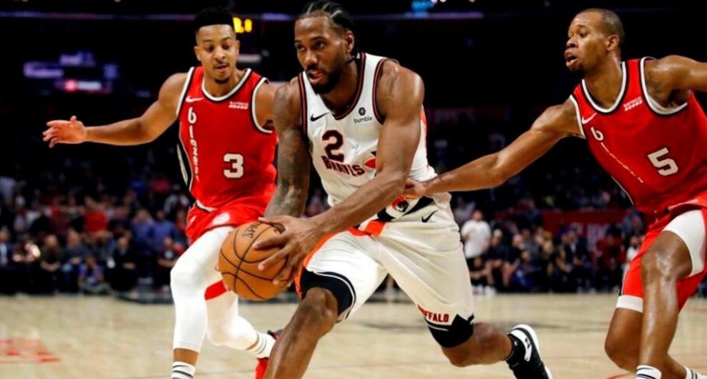 Alero Kawhi Leonard y escolta Lou Williams lideran el triunfo de los Clippers sobre Portland