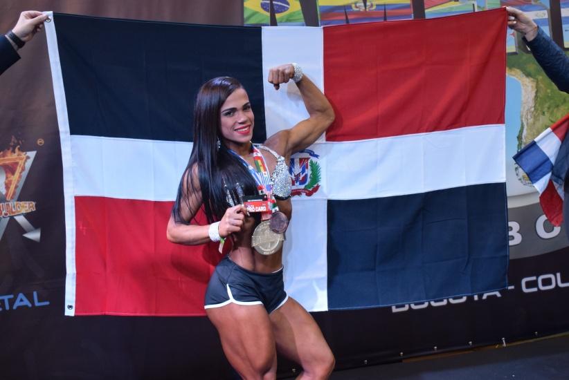 Atleta dominicana Elba Viola obtiene el segundo lugar en mundial de fisiculturismo