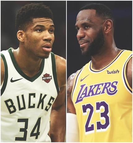 Los Lakers y Bucks llegan a diez victorias consecutivas