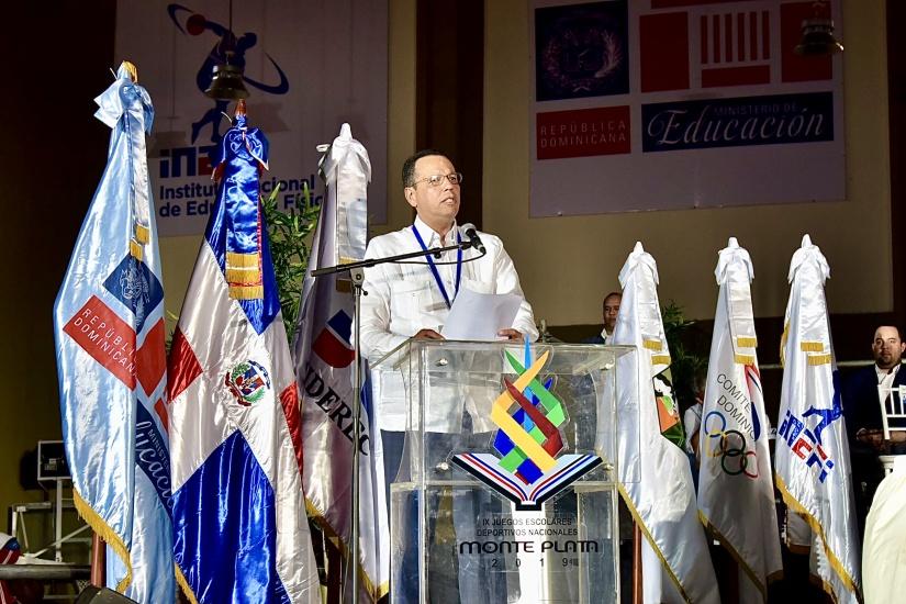 Ministro de Educación encabeza inauguración de los IX Juegos Escolares Deportivos Monte Plata 2019