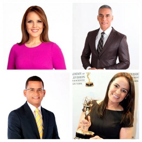 Cuatro periodistas dominicanos nominados a los premio Emmy