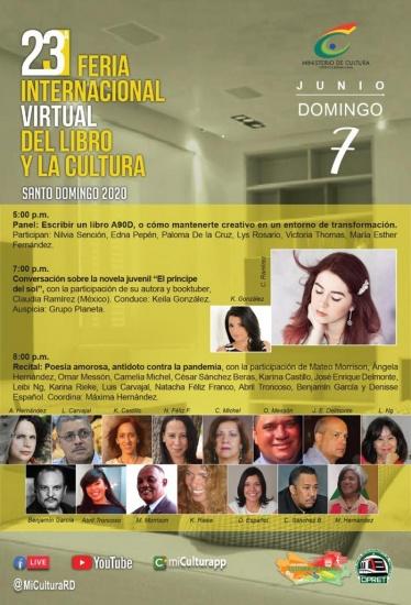 La Feria Virtual del Libro y la Cultura 2020 concluye con atractivo programa este sábado y el domingo
