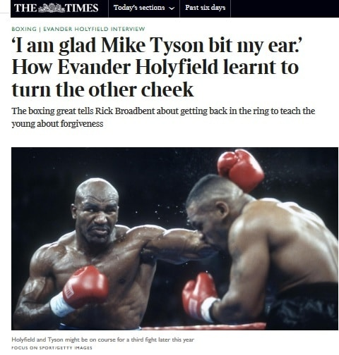 Holyfield quiere pelear contra Tyson, Bowe enfrentarse a Lewis