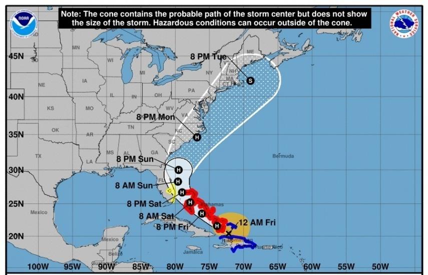 Isaias avanza con vientos máximos sostenidos de 80 millas por hora por Islas Caicos y Bahamas