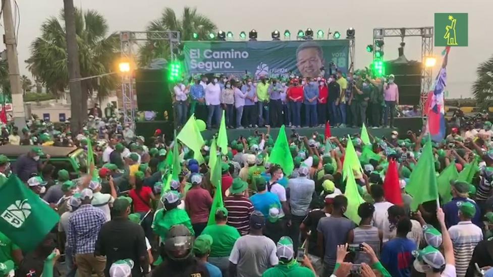 Leonel concluye la campaña con gran respaldo popular
