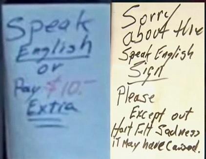 Pretendía cobrar 10 dólares en su tienda de NJ a clientes no hablaran inglés