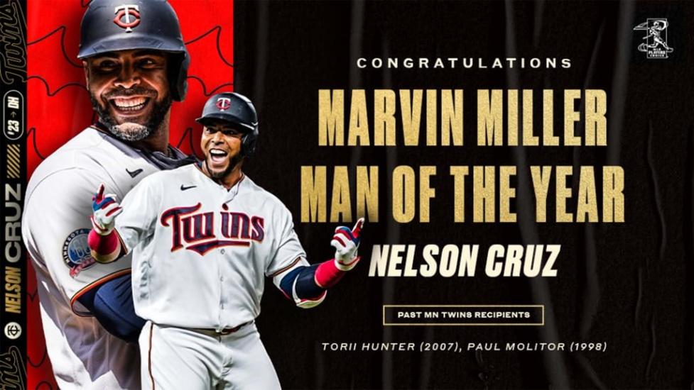 Nelson Cruz gana el Premio Marvin Miller