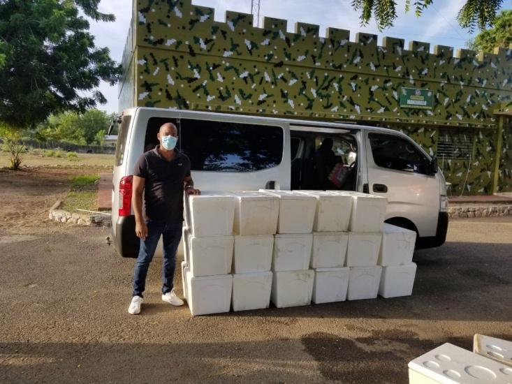 Codopesca y la Armada decomisaron 10 kilos de anguila en Montecristi