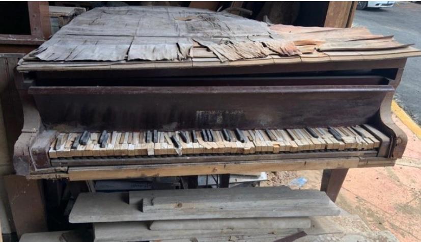 Encuentran en total abandono el piano donde se compuso el Himno Nacional