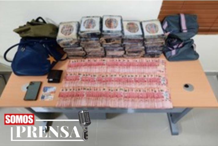 PN y Ejército incautan 27 kilos de cocaína y RD$203 mil pesos en avenida Independencia