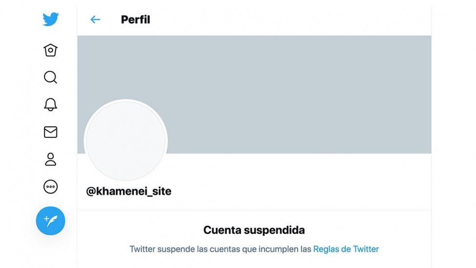 Twitter suspende una cuenta del líder supremo de Irán por su llamado para atacar a Trump