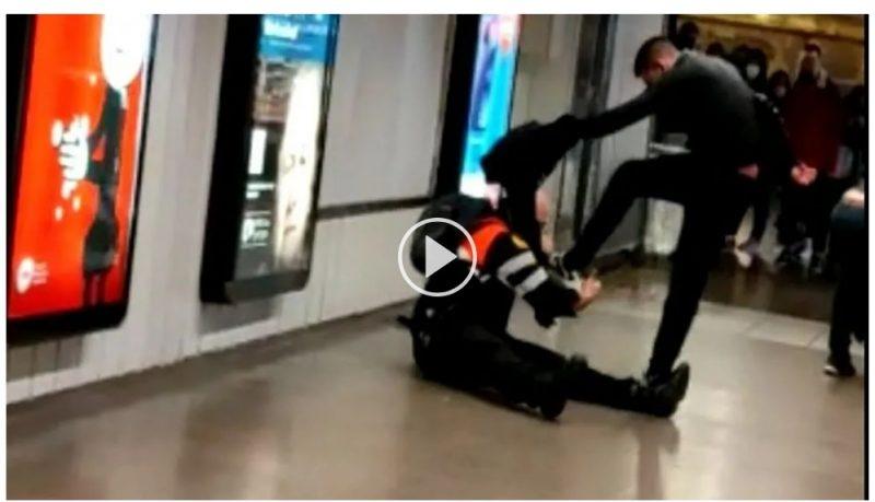 Dominicanos agreden vigilantes de metro en Barcelona al reprocharle que no portaban mascarilla