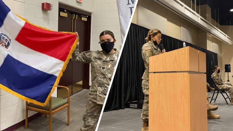 Ejército de EEUU reconoce con Medalla al Mérito a joven dominicana