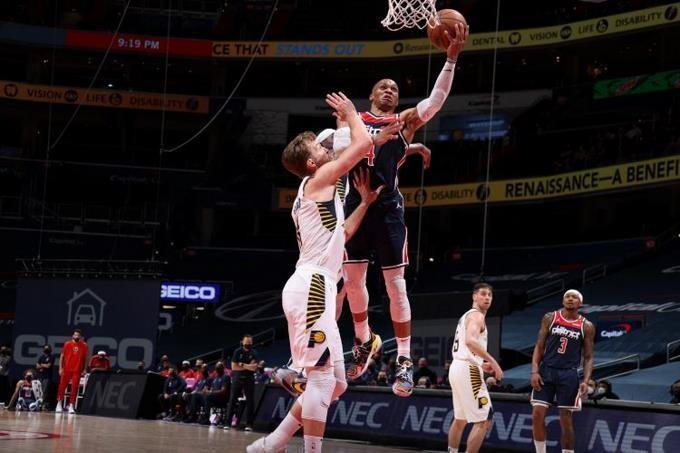 Russell Westbrook hace un 20-20 en rebotes y asistencias; Lakers ganan sin LeBron