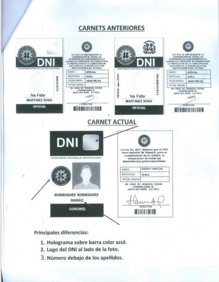 DNI aclara que el carnet de la persona detenida en NY no fue emitido en la presente gestión